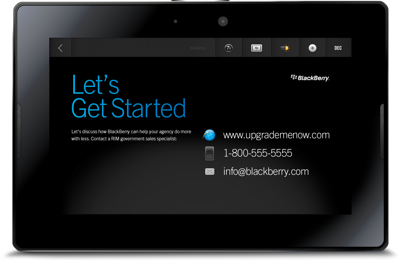 Blackberry Enterprise Sales Playbook App Design Office